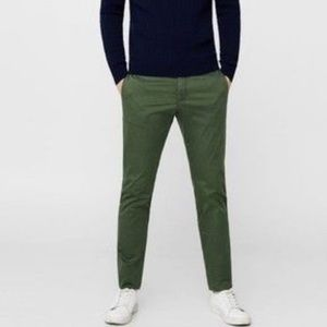 Army Green slim fit chinos